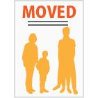 引っ越し報告用のデザインの年賀状